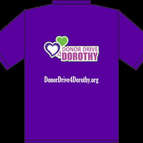 DonorDrve4Dorothy Tee - Back